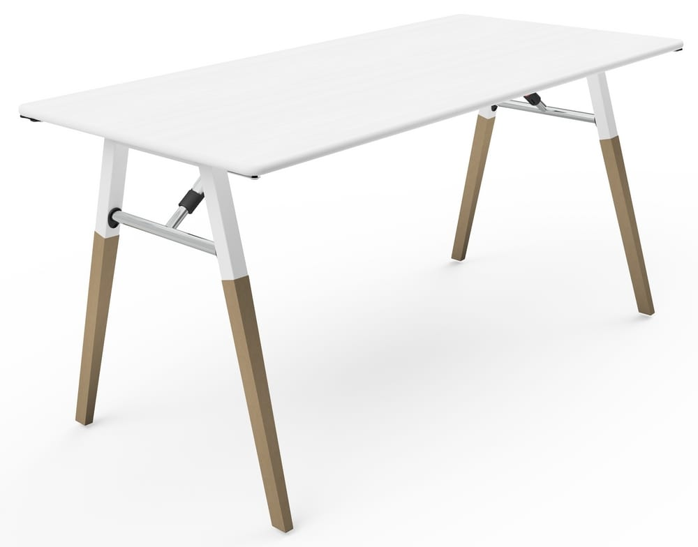Designer folding table round