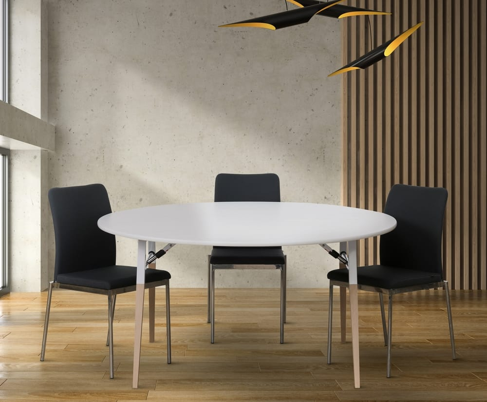 Foldable round table and chairs
