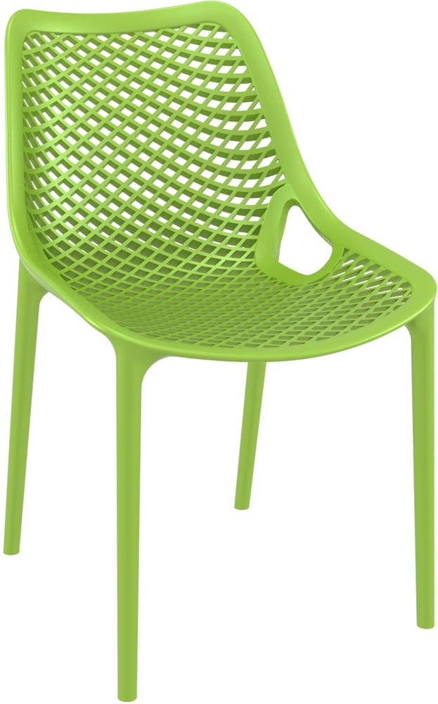 Stackable plastic chair for outdoors