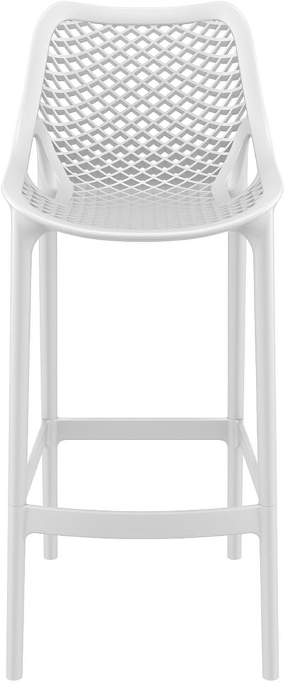 Stacking plastic bar stool