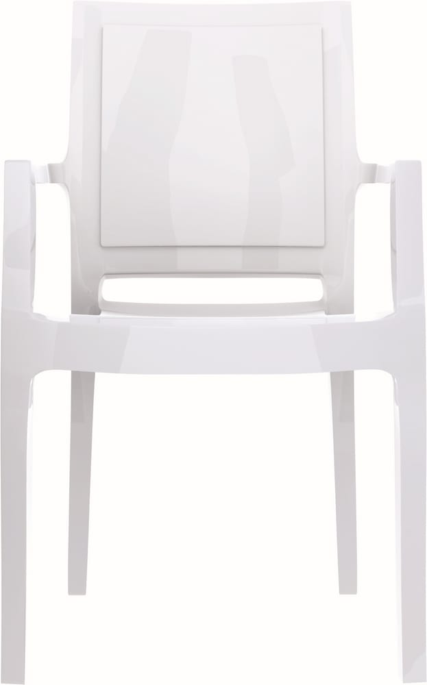 Polycarbonate chair with arms