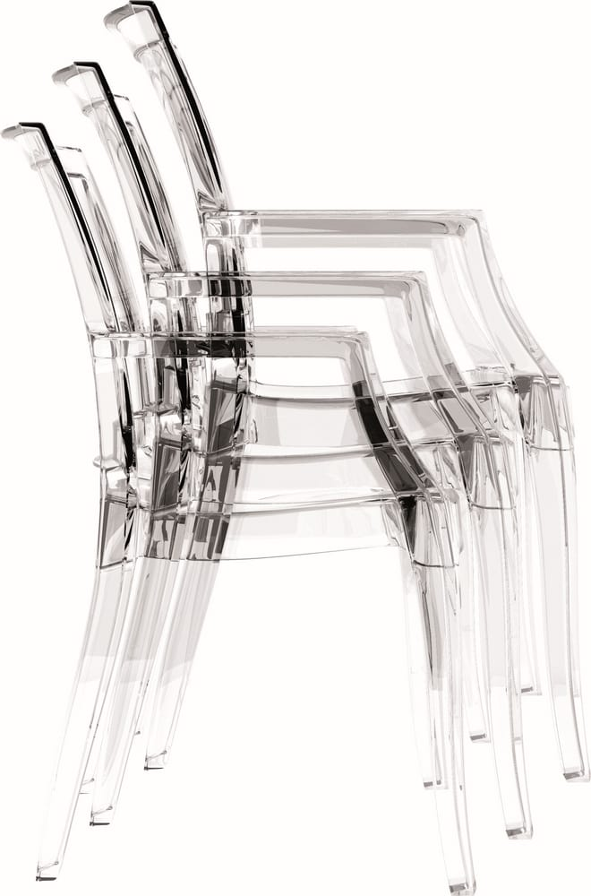 Stackable transparent chairs