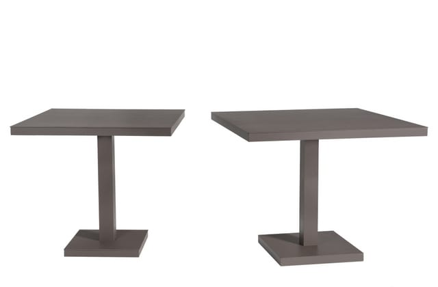 Aluminium square tables