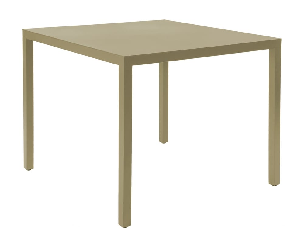BEA - Square aluminium outdoor dining tables