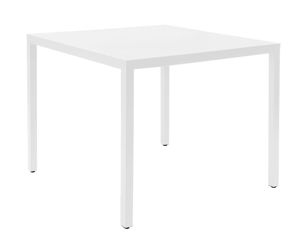 White aluminium table