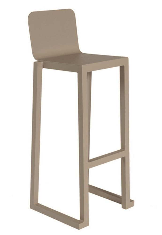 BELL-SG - Outdoor aluminium bar stool
