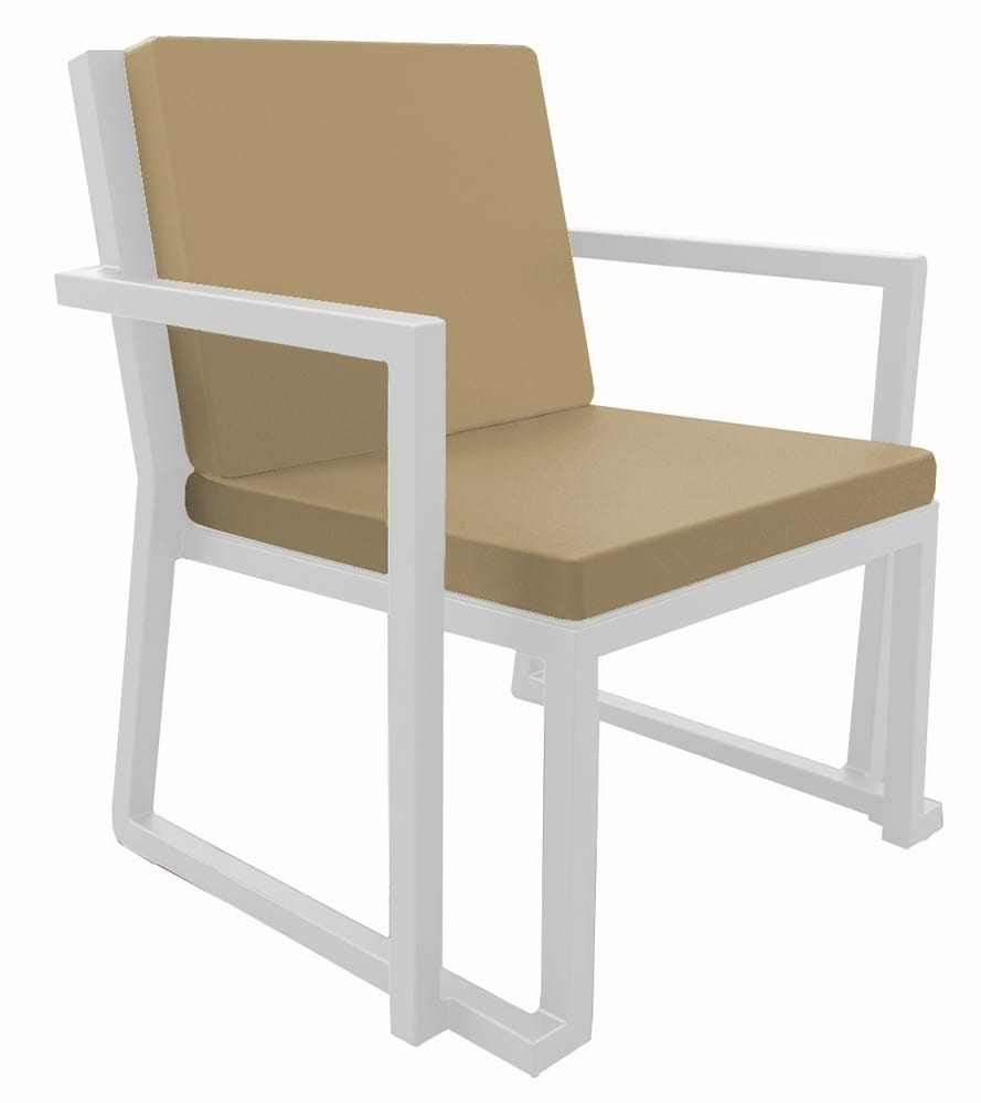 Aluminium stacking armchair for outdoor