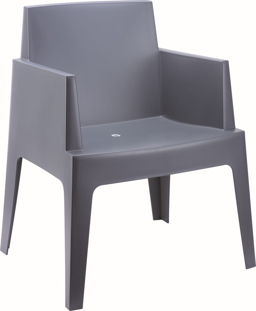 Stacking plastic armchair for outdoors