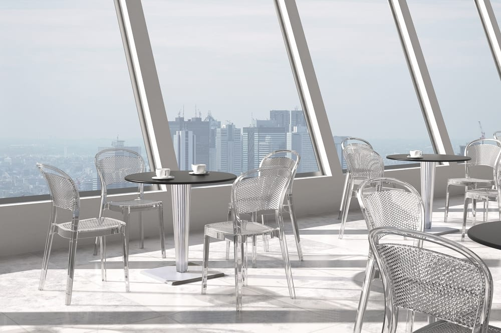 Polycarbonate chairs and tables