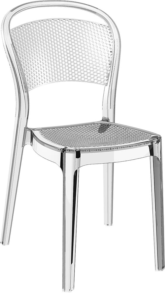 Transparent polycarbonate chair for restaurant