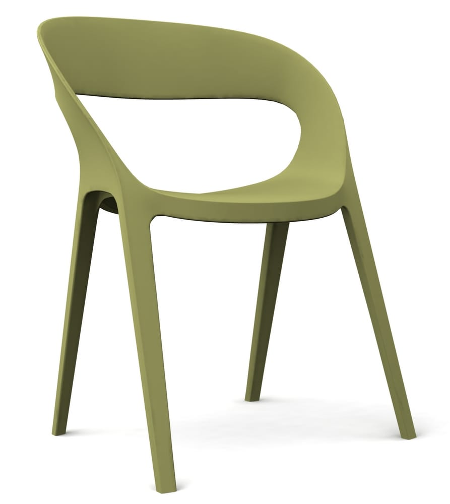 Coloured plastic chair for bars