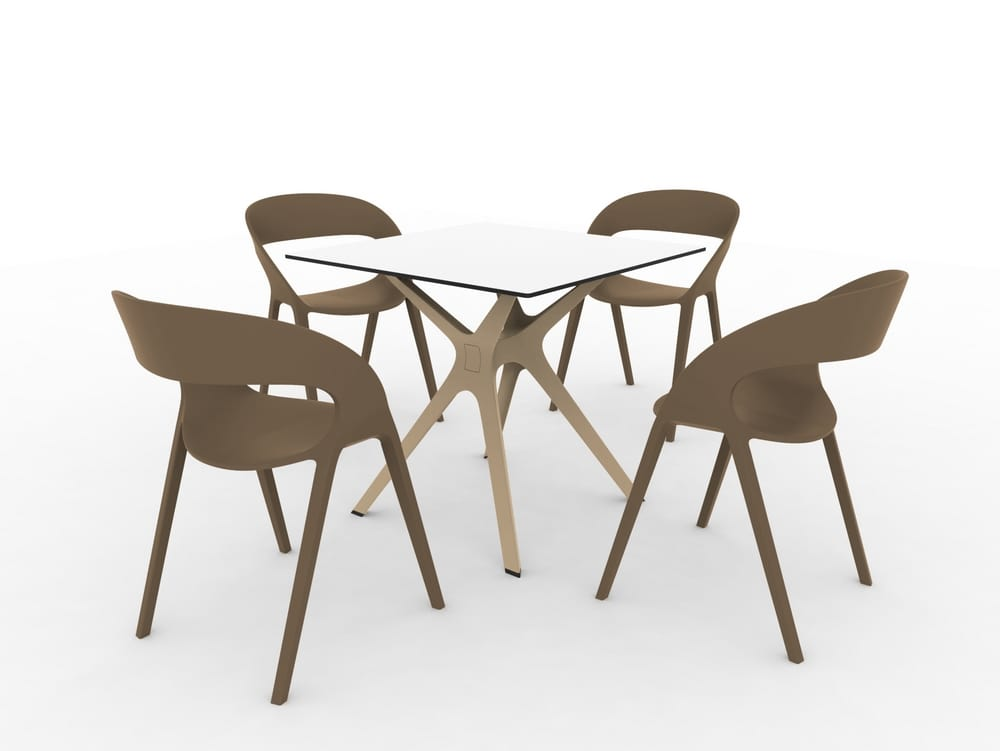 Polypropylene chairs and table