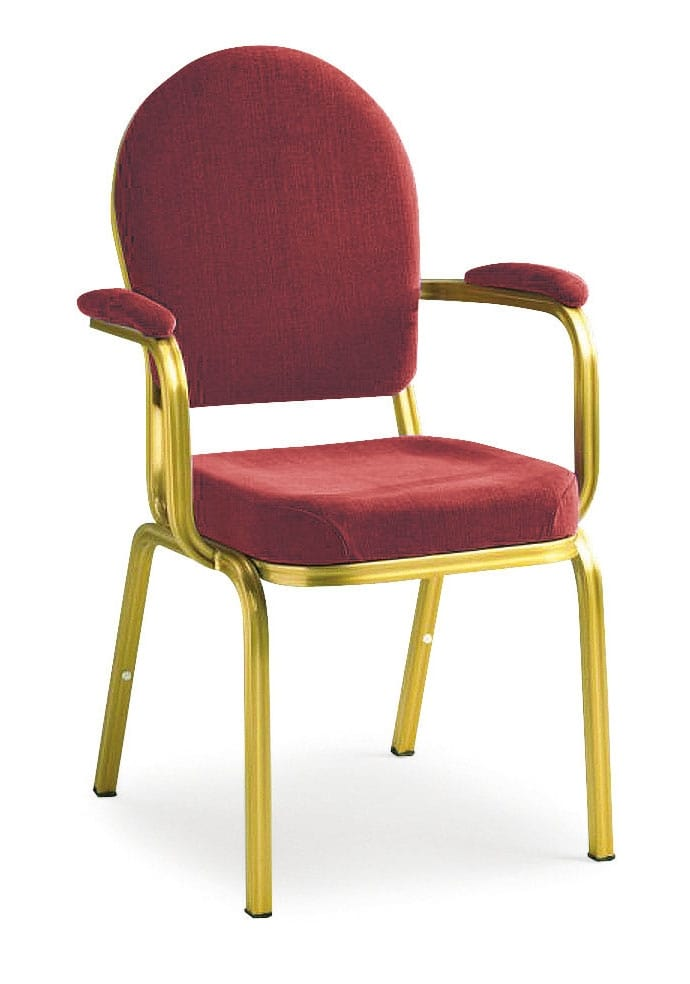 Aluminium chair with arms