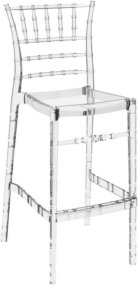CHIAVARINA 75 - Chiavari stacking bar stools in polycarbonate