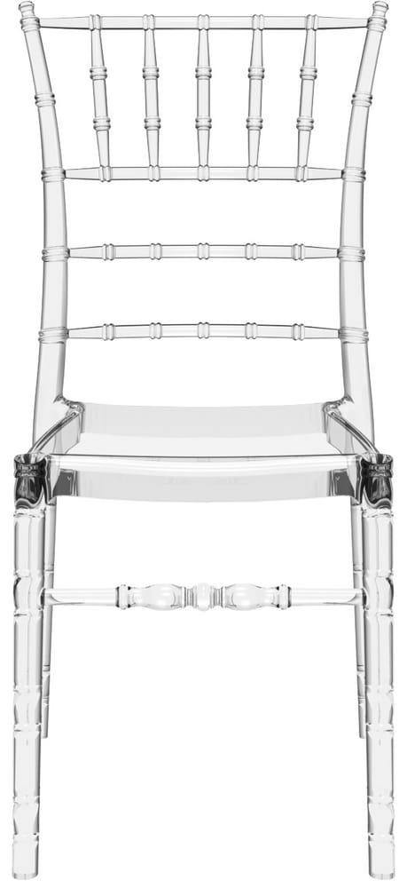Transparent chair for banqueting