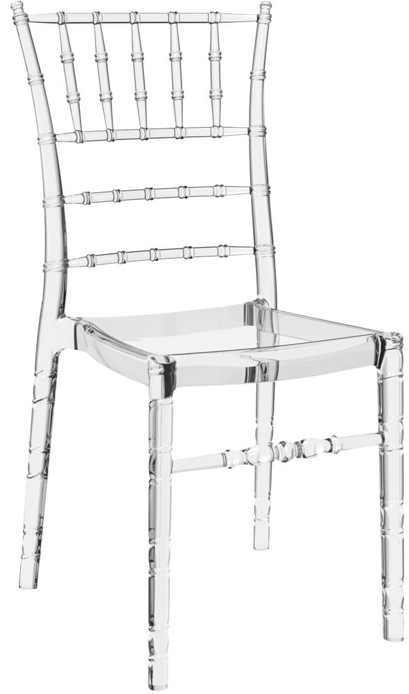 Transparent polycarbonate chiavari chair for catering
