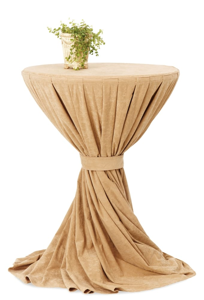 Cocktail table with table cloth