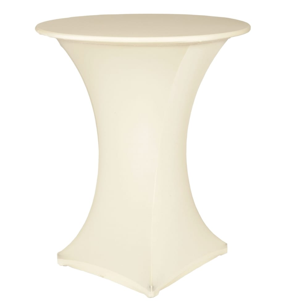 High table with stretch cloth
