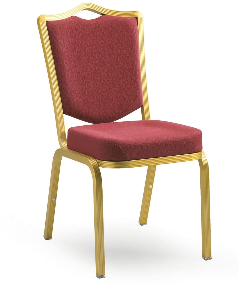 Chair in gold aluminium