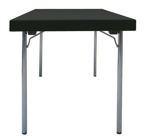 Folding table with H legs