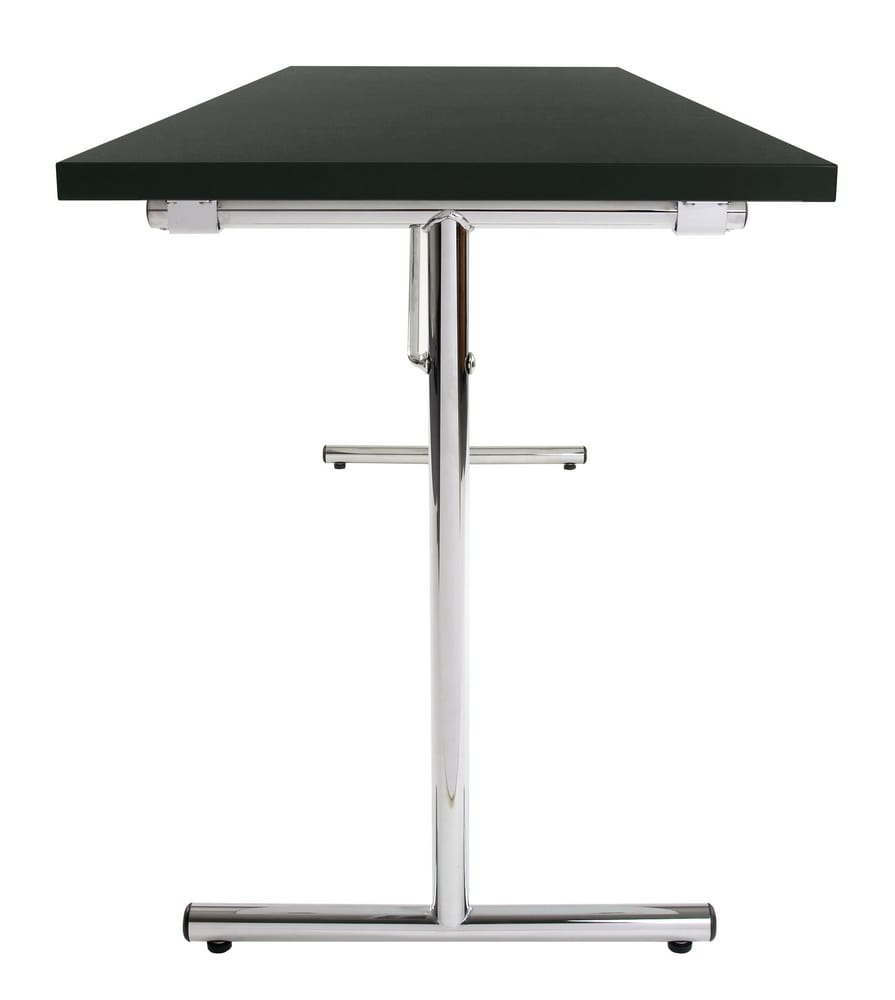 Folding table with T-bar legs