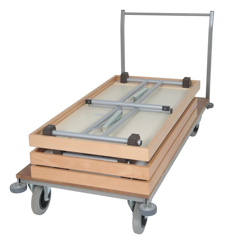 Trolley for rectangular tables