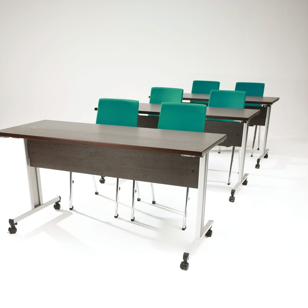 configure 8 flip top folding meeting tables with wheels tonon