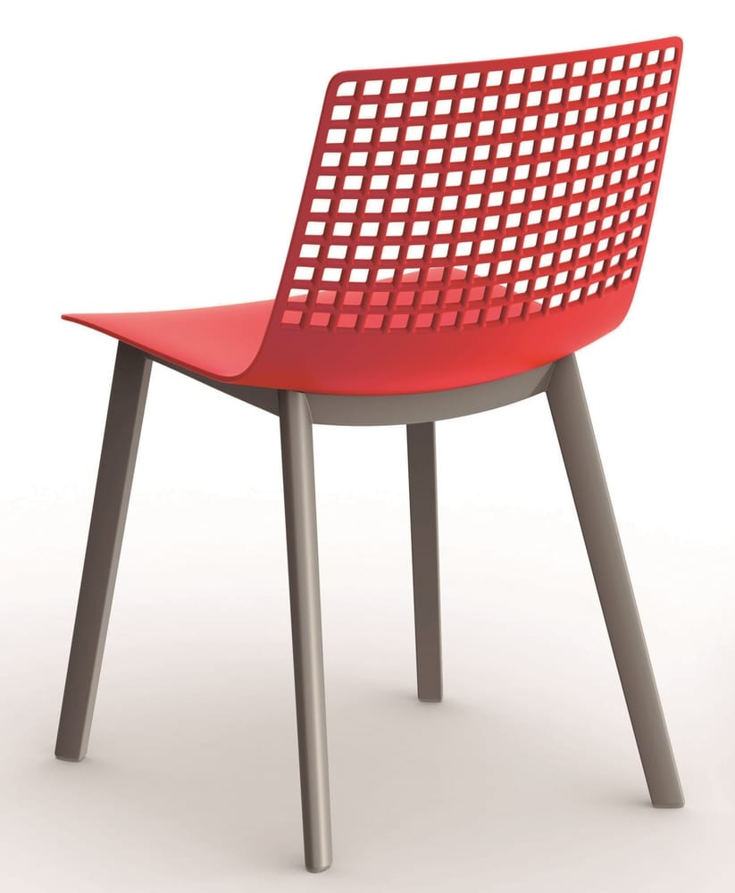 Chair in perforated plastic