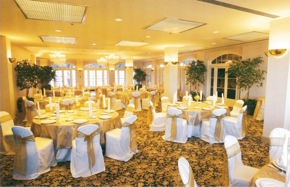 Chair covers for wedding room