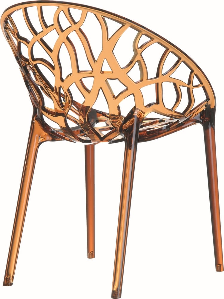 Chair in amber polycarbonate