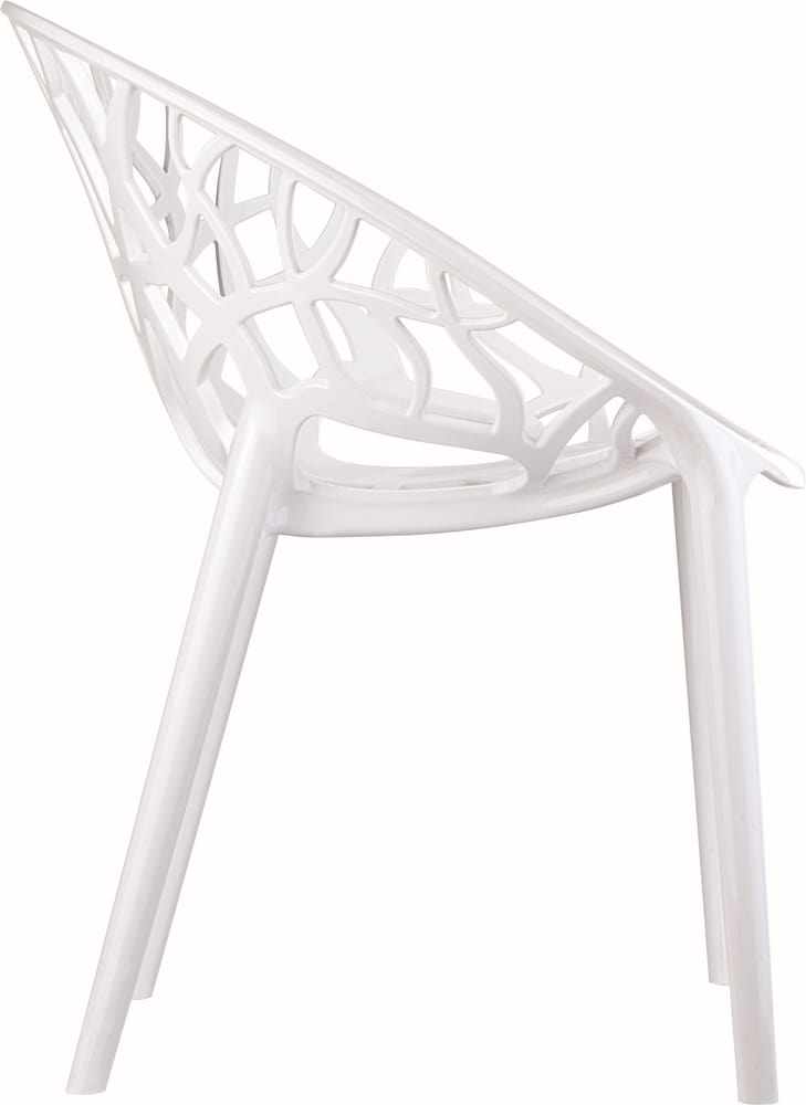 Design chair in white polycarbonate