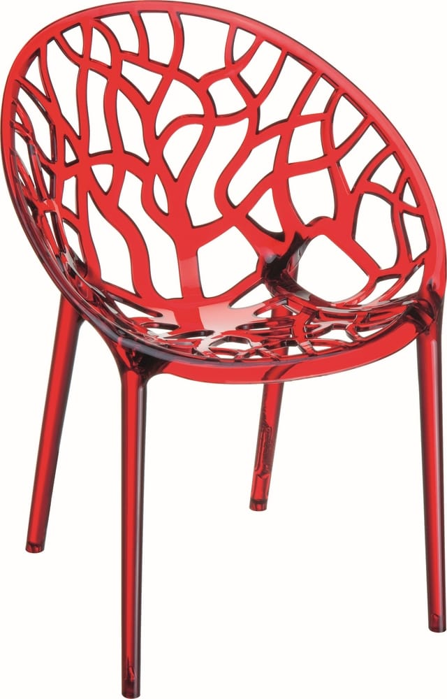 Design polycarbonate chair for outdoor