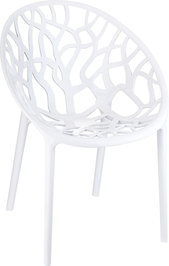 Outdoor chair in white polycarbonate