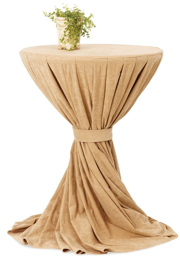 High table with cloth