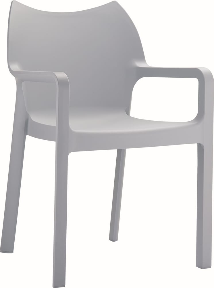 Stacking chairs with arms for outdoors