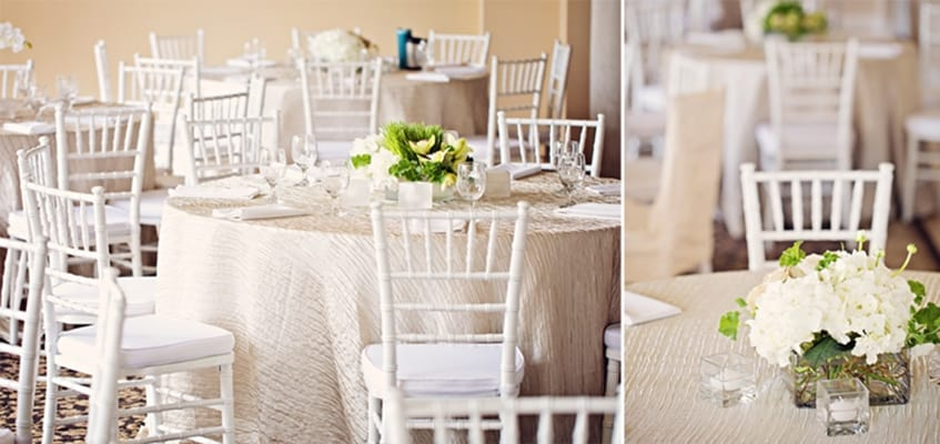 Wedding with white chairs