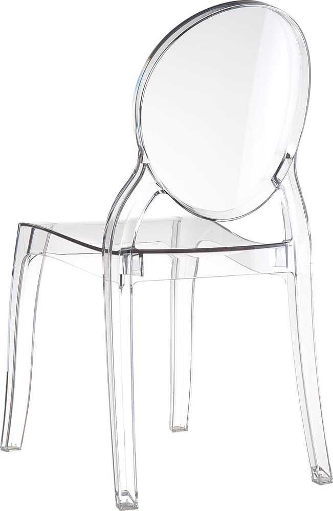 Outdoor transparent chair