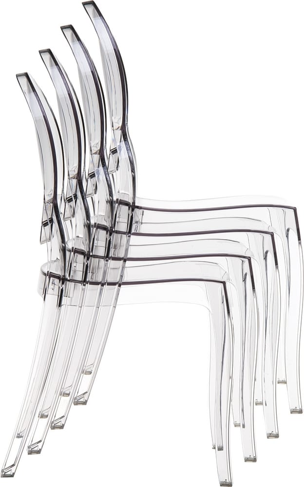 Stacking polycarbonate chairs