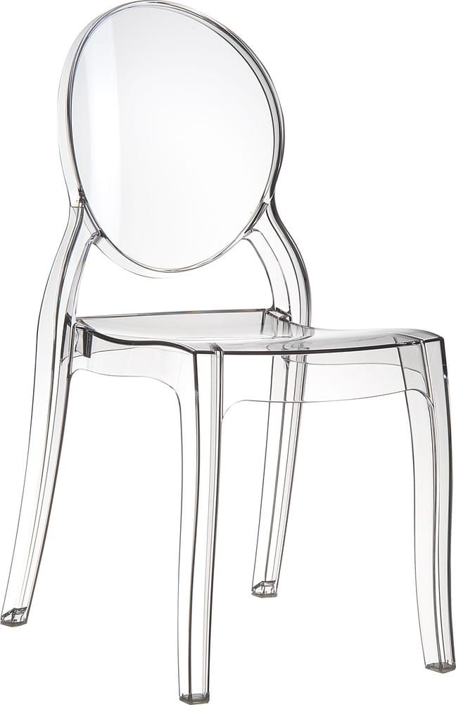 Transparent chair for restaurant and banquet