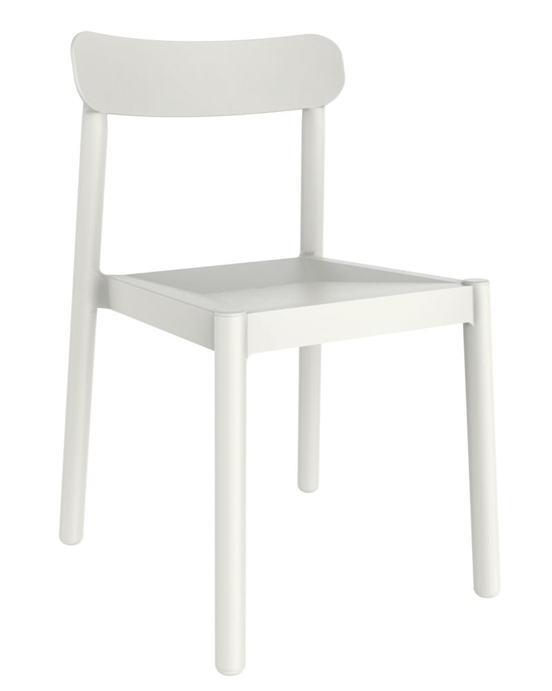 White outdoor chair