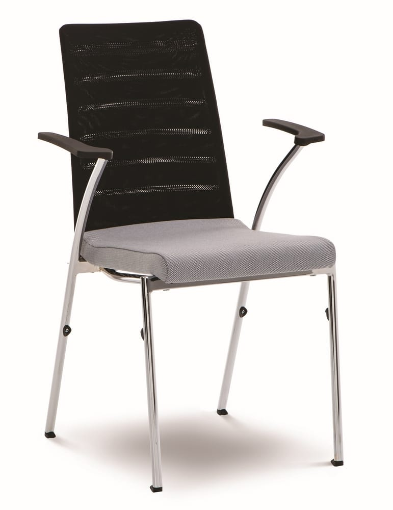Chair with arms and mesh back