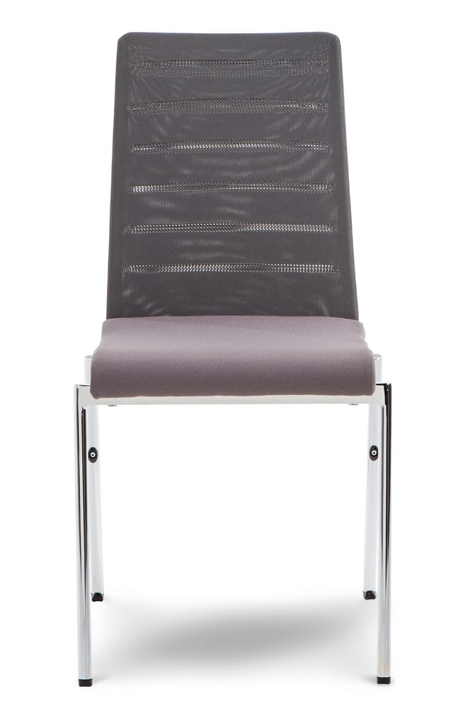 Chair with mesh backrest
