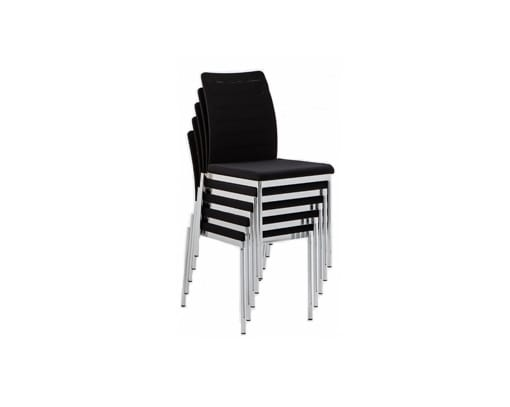 Upholstered stacking chairs