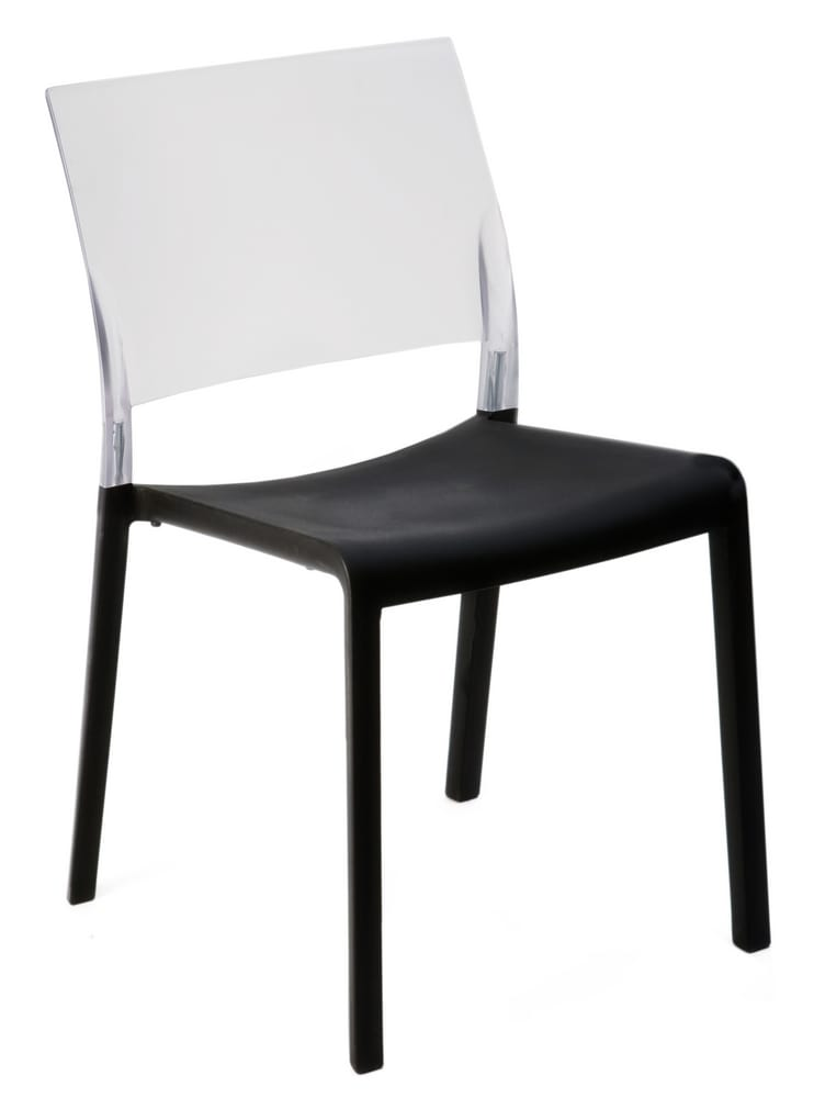 Chair with translucent backrest
