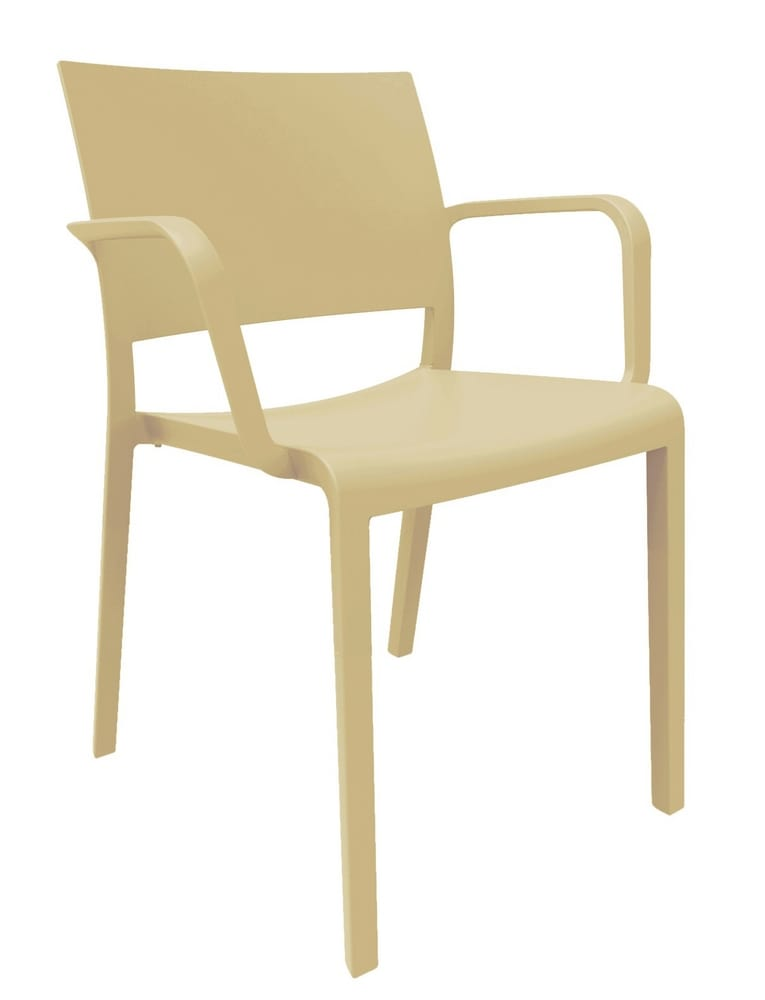Polypropylene chair with arms