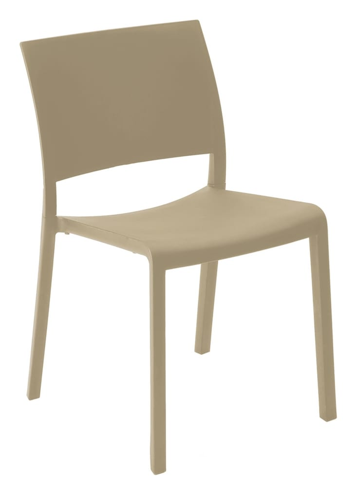 Stacking chair in coloured polypropylene