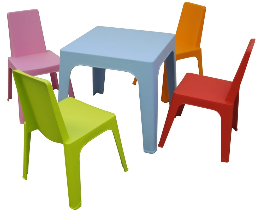 Coloured chairs for children