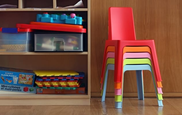 Stacking chairs for kindergartens