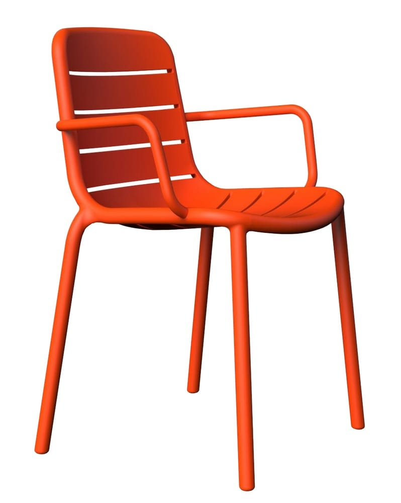 Design chair with arms