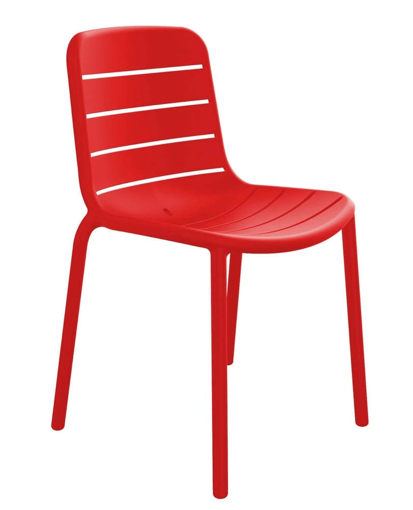 Polypropylene stacking chair without arms